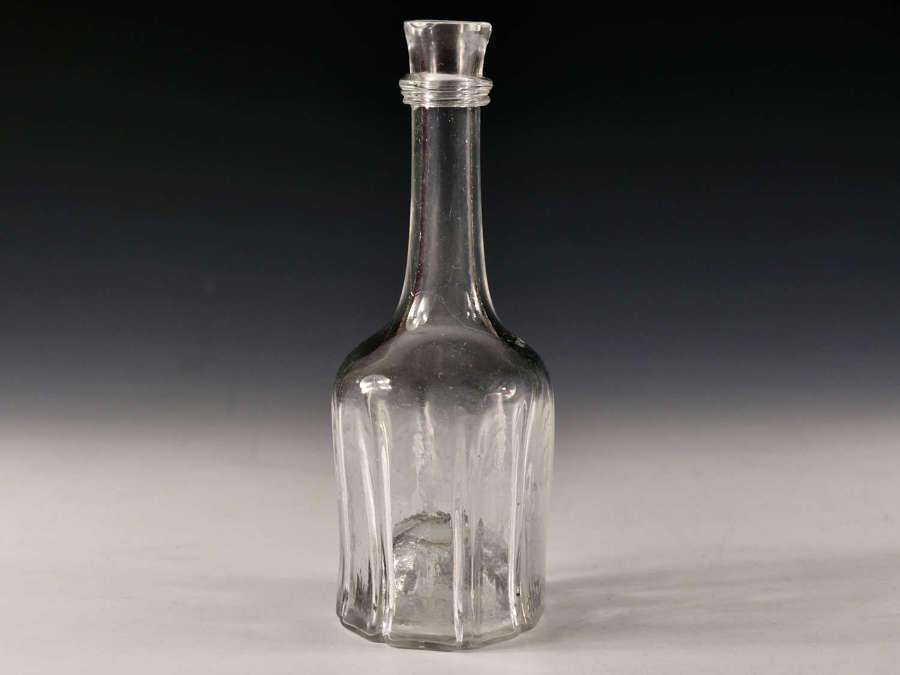 Antique glass serving bottle English c1750