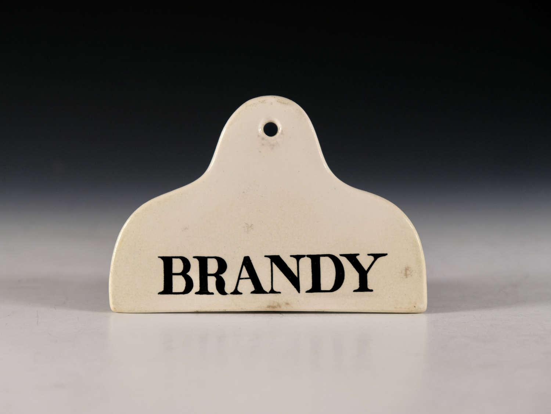 Bin label Brandy Mid 19th century