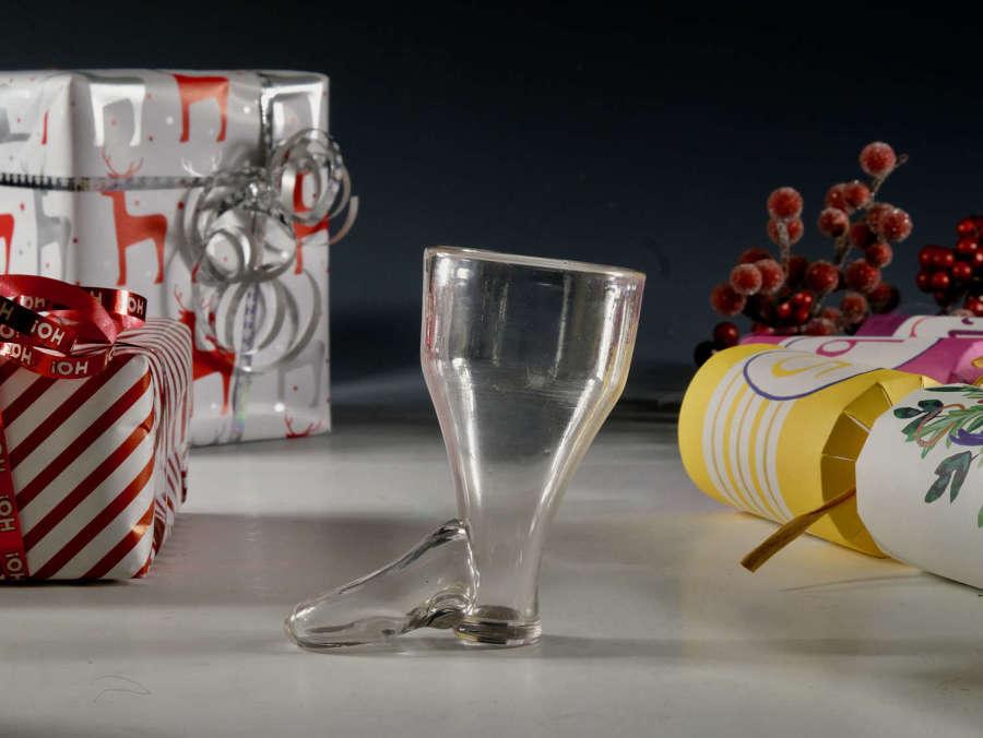 Antique glass stirrup glass C1800