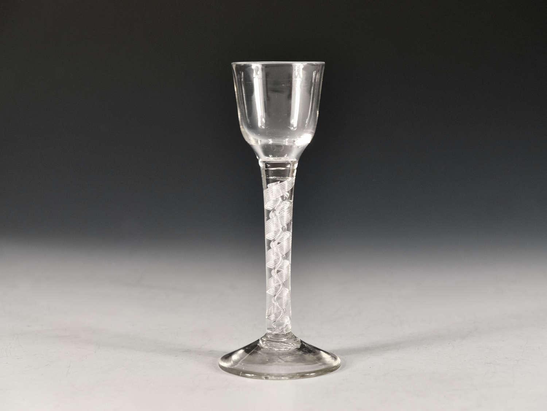 Antique glass air twist wine  glass English c1755