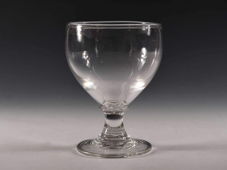 Antique glass ovoid rummer English c1810
