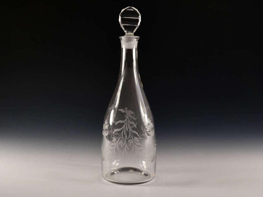 Antique glass taper decanter English c1780