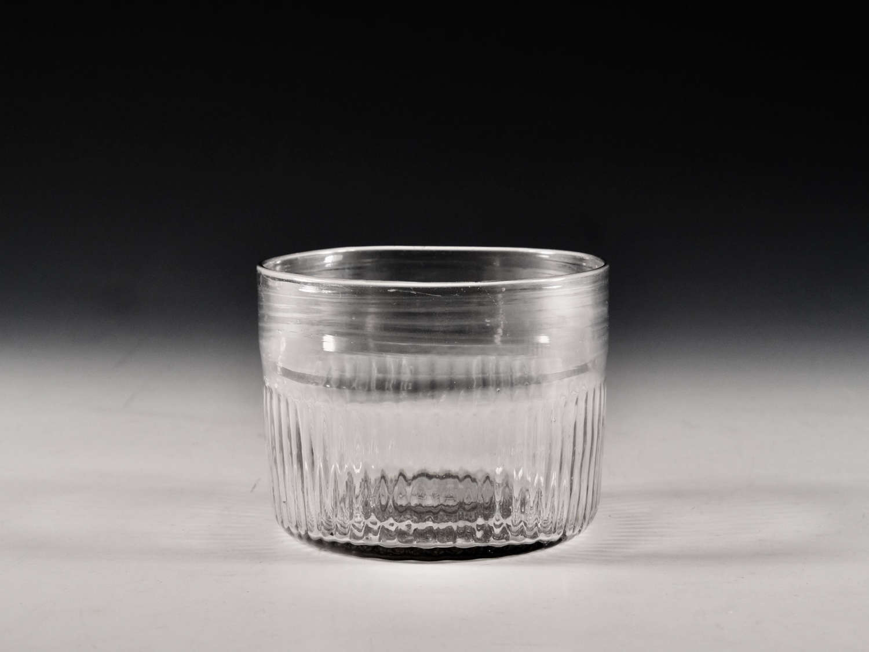 Antique glass finger bowl B Edwards Belfast late 18th century