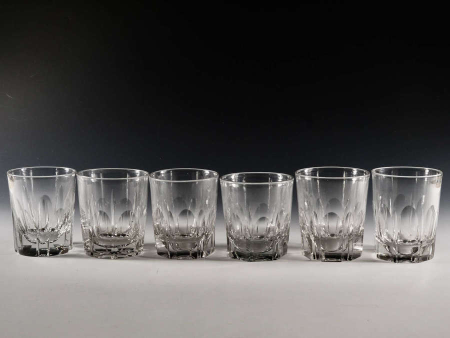 Antique glass Six late 19th / early 20th century cut glass tumblers